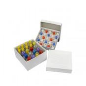 Caixa plástica para criogênica com 81 poços = P-3001B e com 100 poços= P-3002B